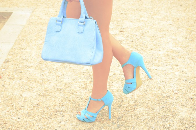 Mi vestido azul - Blue flowers (1)