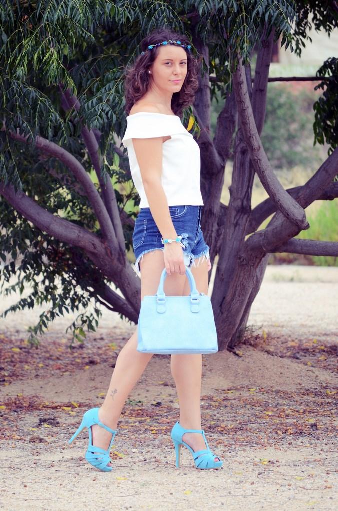 Mi vestido azul - Blue flowers (6)