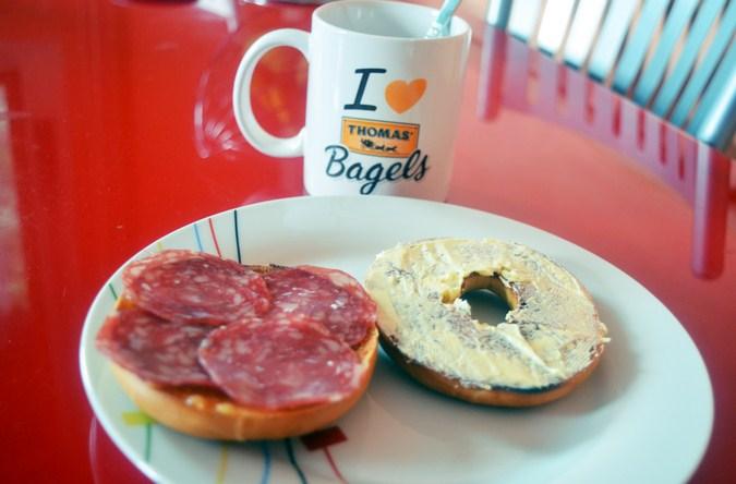 Mi vestido azul - Desayuna con Thomas Bagels (8)