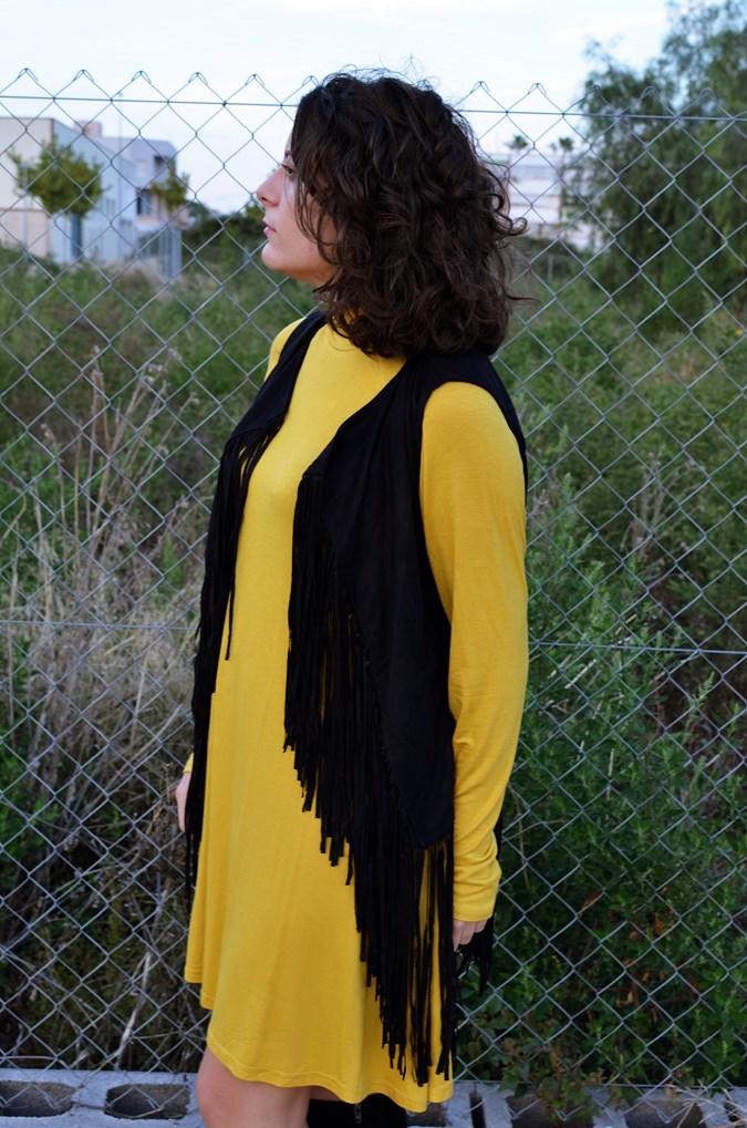 Mustard & Fringed vest (11)