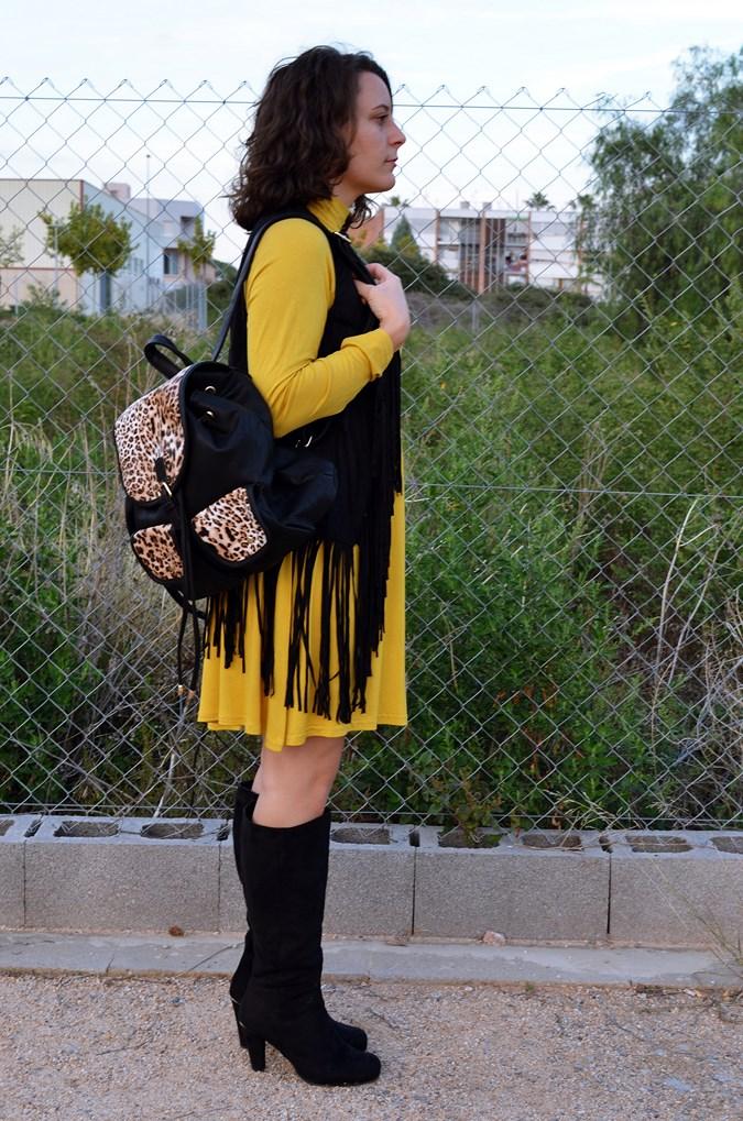 Mustard & Fringed vest (3)