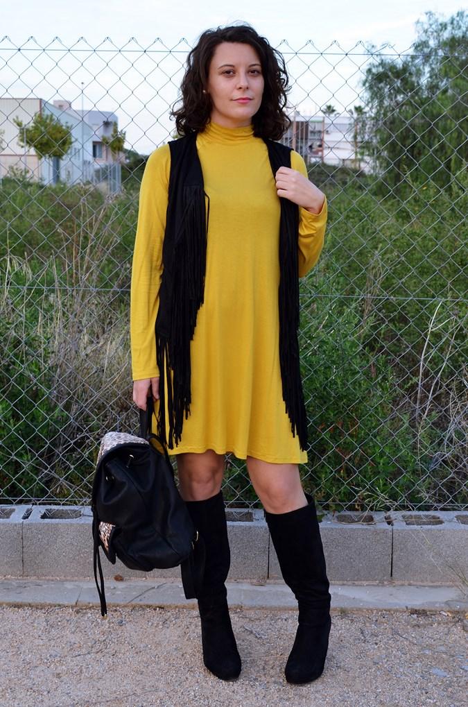 Mustard & Fringed vest (5)