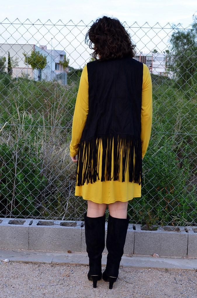 Mustard & Fringed vest (8)