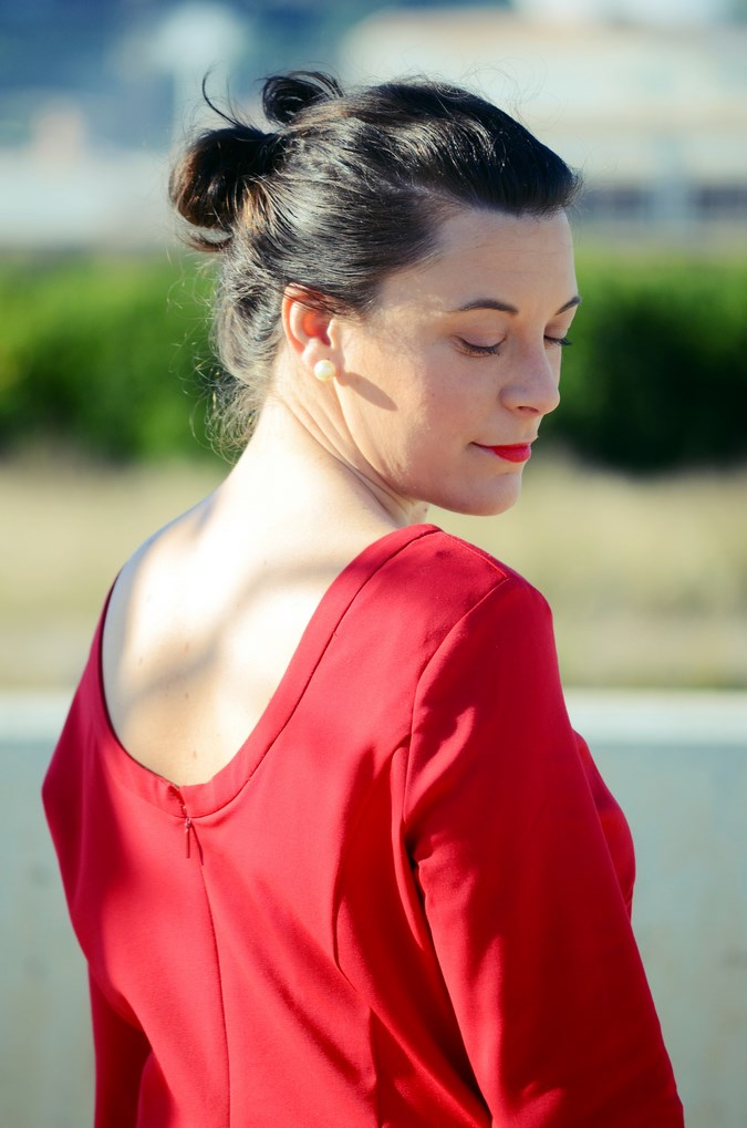 Lady in red & Magrid Bloggers Made In Spain 2016 _ Look_ Zapatos Magrit_mivestidoazul (7)
