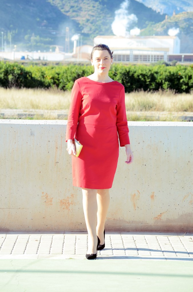 Lady in red & Magrid Bloggers Made In Spain 2016 _ Look_ Zapatos Magrit_mivestidoazul (8)