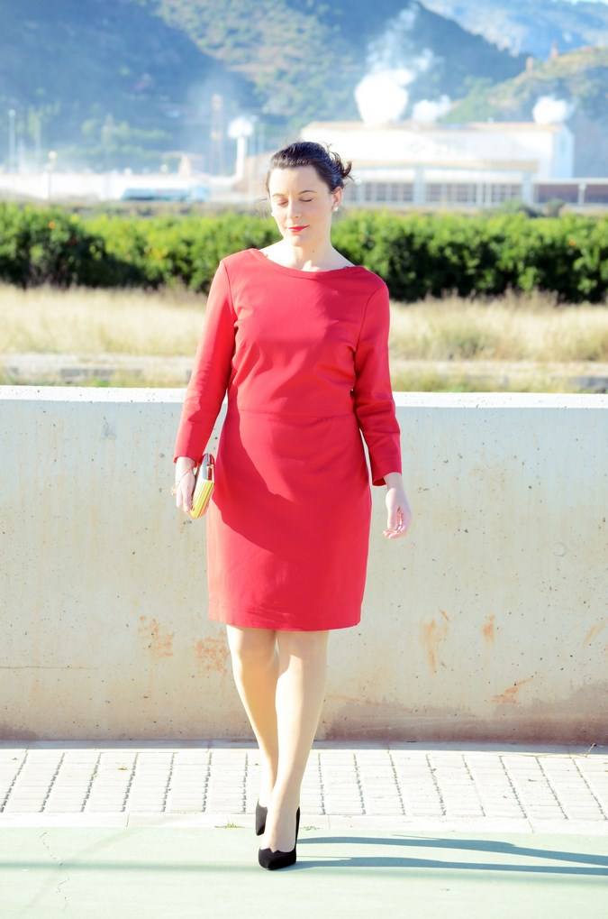Lady in red & Magrid Bloggers Made In Spain 2016 _ Look_ Zapatos Magrit_mivestidoazul (9)