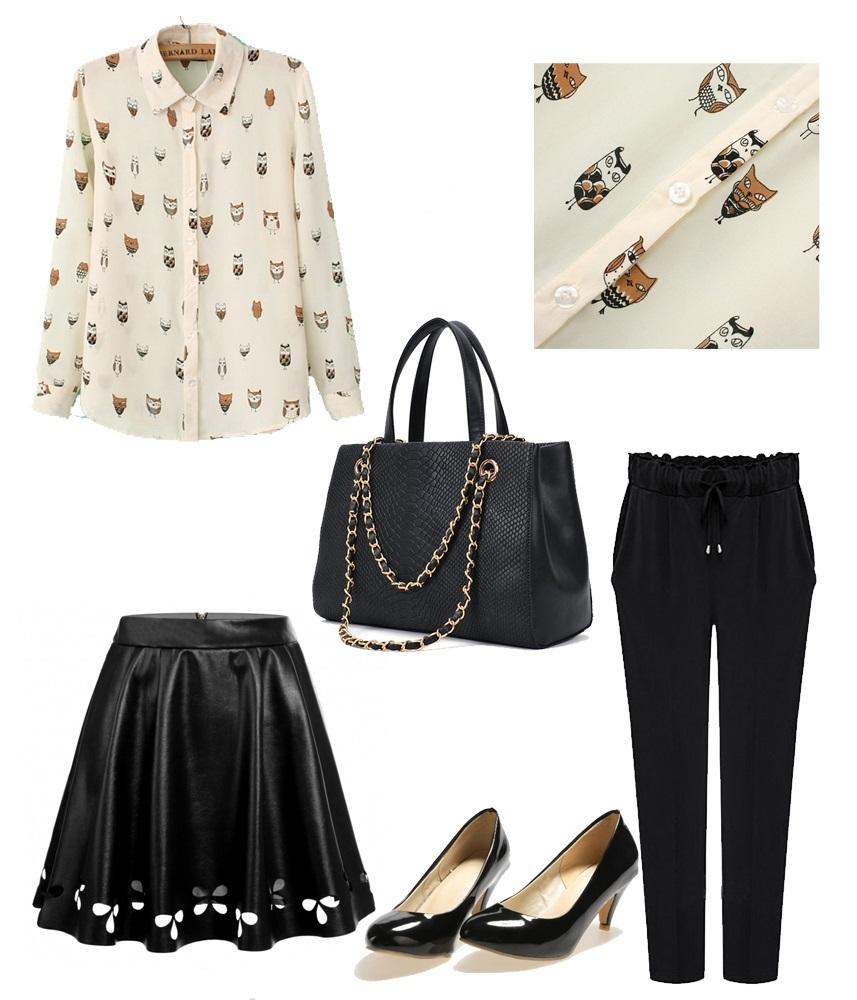 Shop the look_Owl Print blouse_mivestidoazul (1)
