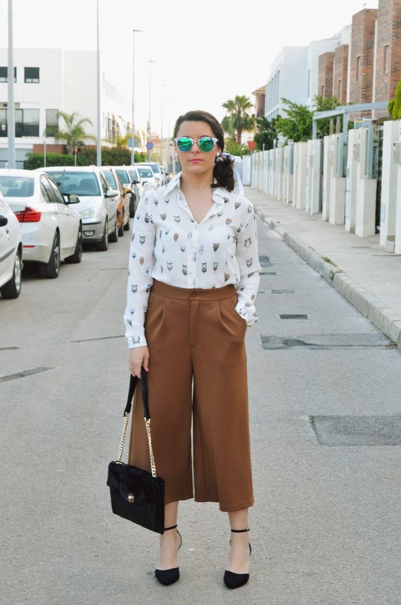 Blusa de buhos y culottes_outfit_mivestidoazul (1)