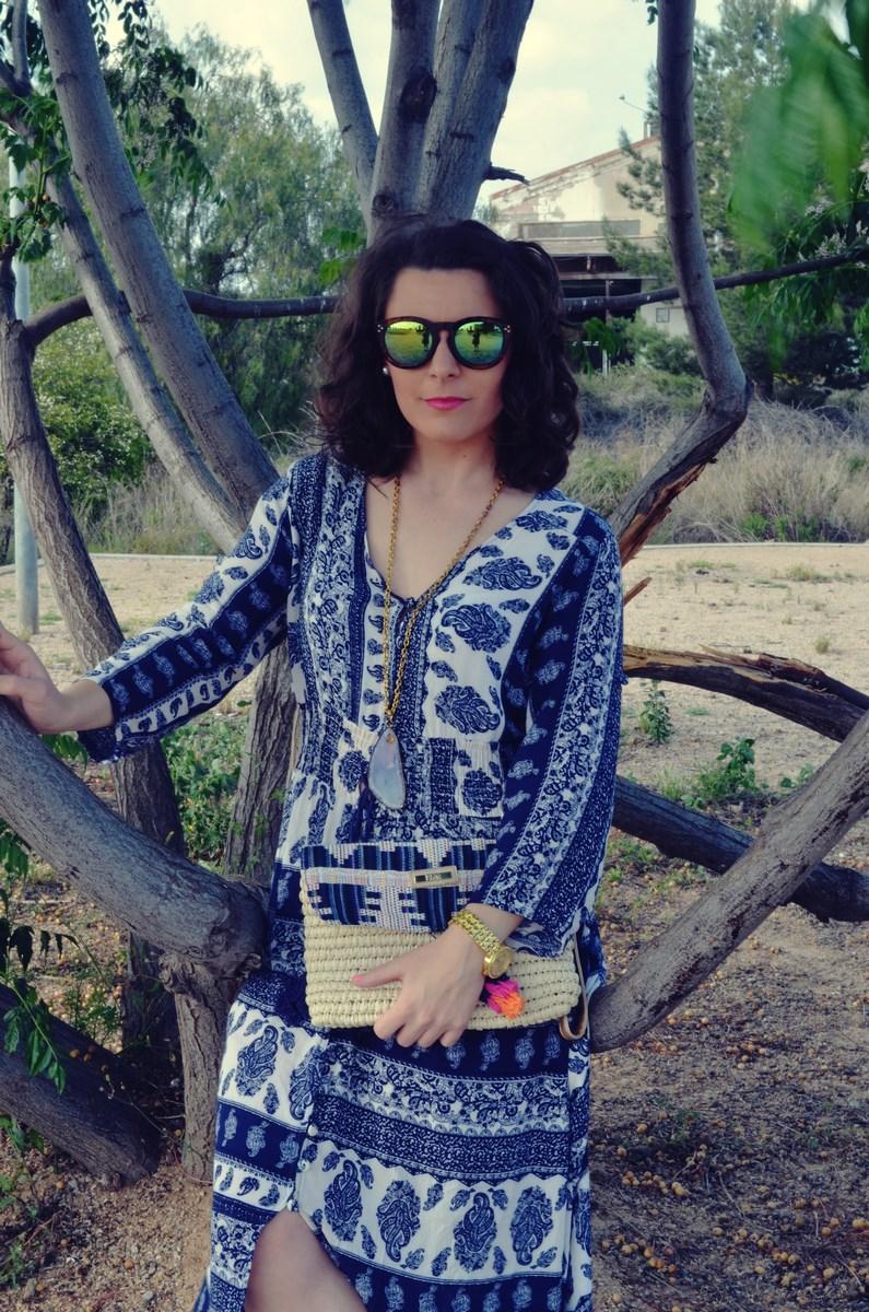 maxi vestido tribal outfit mi vestido azul fashion blogger (11)