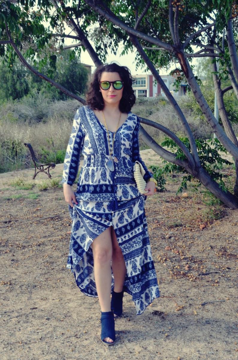 maxi vestido tribal outfit mi vestido azul fashion blogger (12)