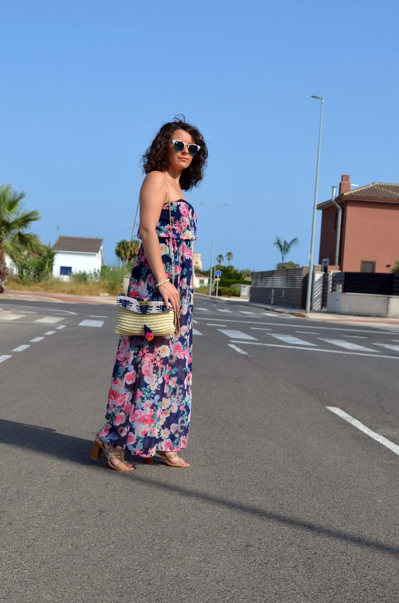 Maxi vestido de flores y clutch de Kbas_look_mivestidoazul (2)