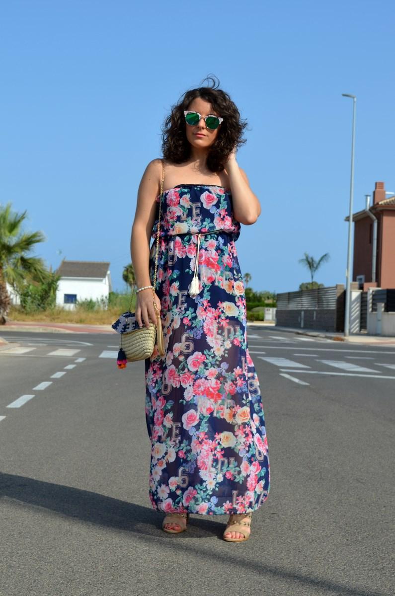 Maxi vestido de flores y clutch de Kbas_look_mivestidoazul (3)
