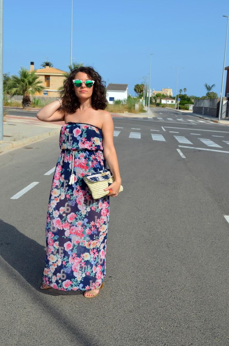 Maxi vestido de flores y clutch de Kbas_look_mivestidoazul (5)