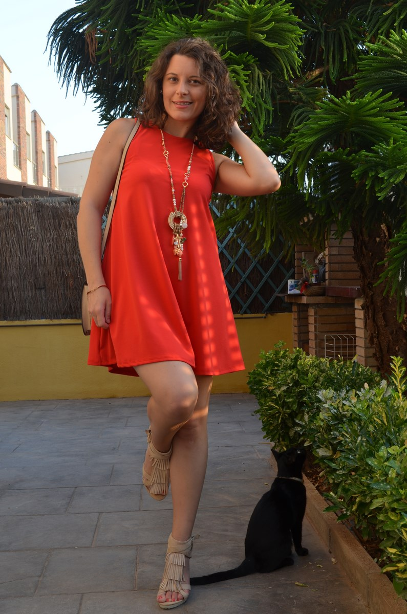 Vestido rojo anaranjado_look_streetstyle_mivestidoazul (11)