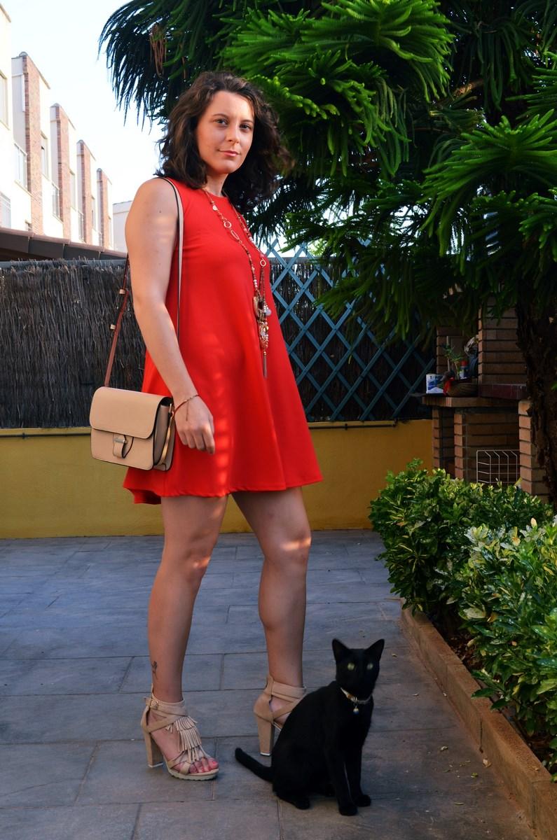 Vestido rojo anaranjado_look_streetstyle_mivestidoazul (3)