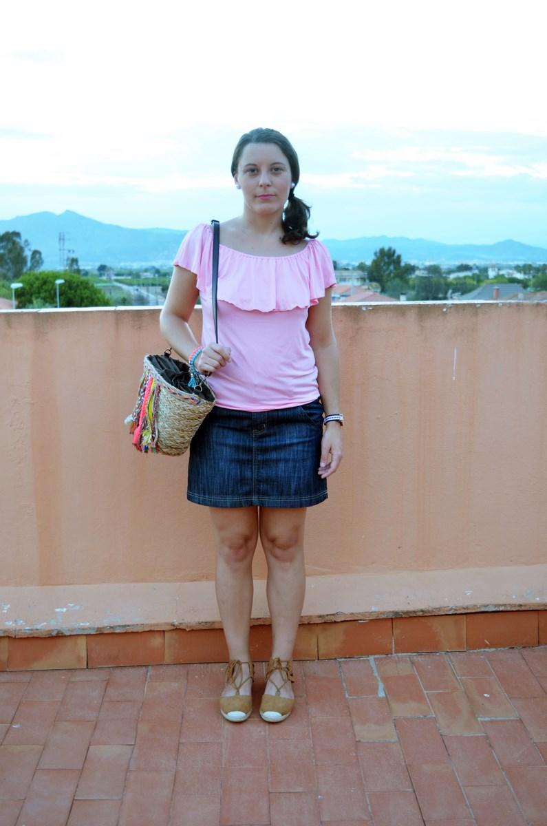 Camiseta rosa y mini capazo_look_verano_fashionblogger_mivestidoazul (1)