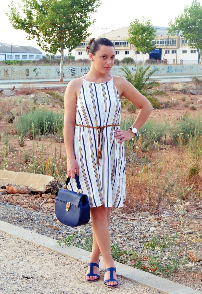 Look_vestido de rayas azul y camel_streetstyle_mivestidoazul (3)