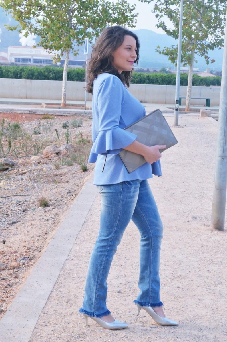 look_blusamangasacampanadasymetalizados_streetstyle_fashionbloggermivestidoazul-5