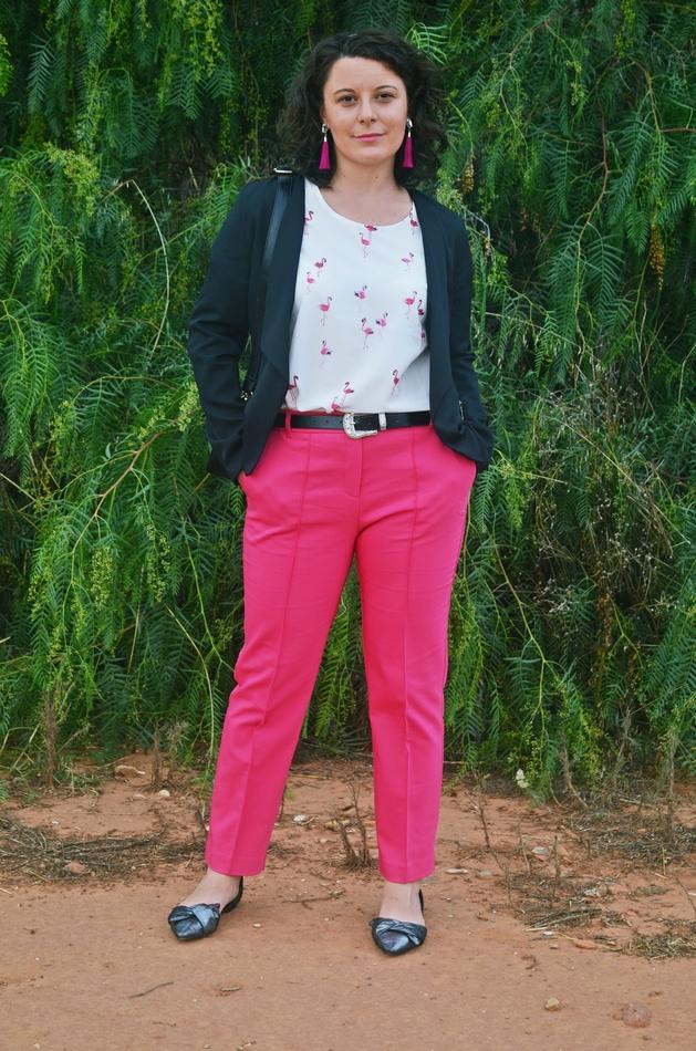 Blusa estampada flamencos